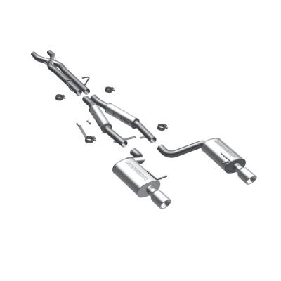 Magnaflow Performance Exhaust - Magnaflow Performance Exhaust 16586 Touring Series Performance Cat-Back Exhaust System